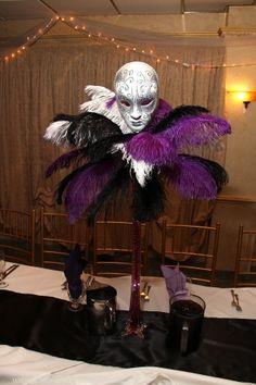 Masquerade theme centerpiece