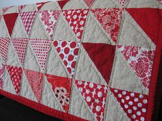red triangle quilt