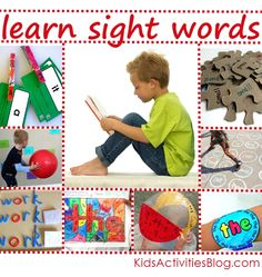 {Tons} of kids activities to help them learn sight words #literacy #education