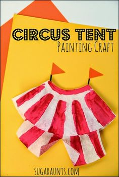 Circus tent craft for kids