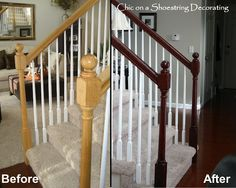 decor, railings, stair rail, stain stair, idea, stairs, stains, hous, banisters