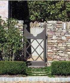 stone fences, charm garden, garden gates, stone walls, door, garden wall stone, backyard