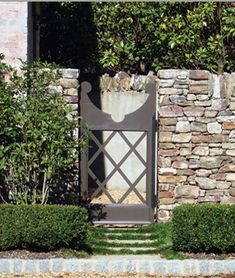 stone fences, charm garden, garden gates, stone walls, door