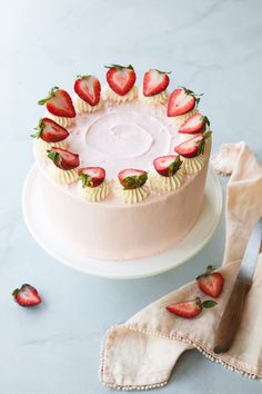 Strawberry Layer Cak