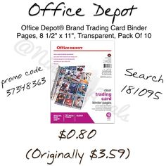 Free in store pickup search 181095 on OfficeDepot.com and use promo code 37348363 promo code expires 8/30 so it will be $1 after that