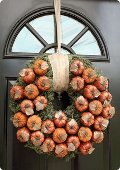 tutorials, urban outfitters, williams sonoma, front doors, fall pumpkins, fall wreaths, autumn wreaths, pottery barn, halloween