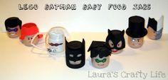 Lego Batman baby food jars