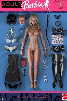 Adult Barbie - Includes everithing you'll never need