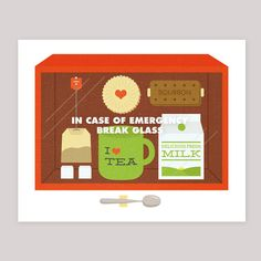 Emergency Tea - illustration print: somebody please make it real!! :D