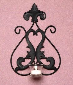 Orleans Metal Candle Wall Sconces, Set of 2 - Candle Holder