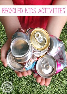 This list of recycled kids activities is so fun and helps kids realize how many things can come of something they think is trash!