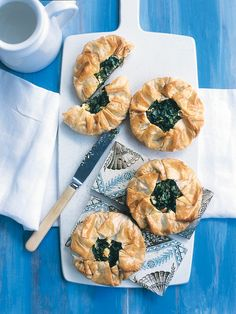 Spinach and fetta pies