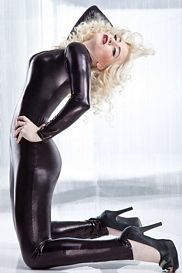Leather Slick Catsuit by Coquette