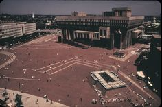 City Hall Plaza, Boston. Circa 1973.