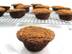 Pumpkin honey bran muffins @Skinny Kitchen