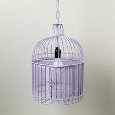 Kids Lighting: Purple Birdcage Pendant Light in Ceiling Fixtures | The Land of Nod