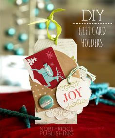 Cute ways to give a gift card + 20% off coupon!