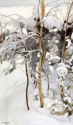 An Orchard in Winter by Pekka Halonen