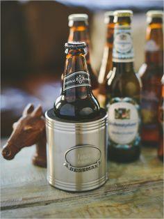 Groomsmen Gift Idea personalized beer Koozie #giftidea #groomsmengift #weddingchicks http://www.weddingchicks.com/2014/04/01/groomsmen-gift-ideas/