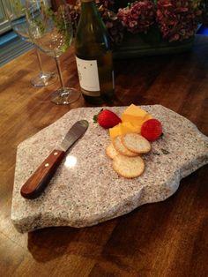 Upcycled Granite Cheese Board with Knife by CountertopCouture, $38.00