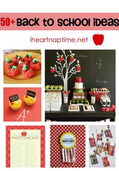 50+ awesome back to school ideas on http://www.iheartnaptime.net/ #school #kids