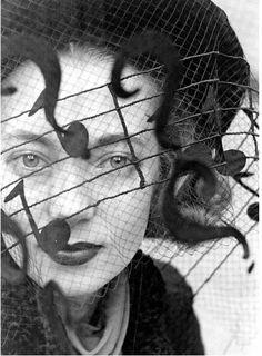 Music note veil, photo by Alfred Eisenstaedt, 1937