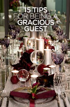 Read about Colin Cowie's 15 Tips For Being A Gracious Guest.