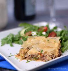 Greek Summery Meat Pie | cookingwithcurls.com