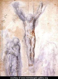 Christ Crucified between the Virgin and Nicodemus c. 1552-54 - Michelangelo Buonarroti