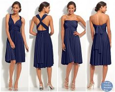The convertible bridesmaid dresses that I am in love with, by Twobirds. However, they are a little costly.