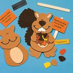 Religious Fall Squirrel Magnet Craft Kit. Fall crafts for children.