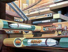 Future Subway (1967)    #future #transportation #design
