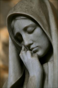 Mary from the Burial of Christ    In a chapel in the cathedral cloisters in Barcelona by Josep Llimona i Bruguera ( 1864 - 1934 ). Photo by Dave Gray