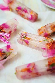 Spring Flower Popsicles