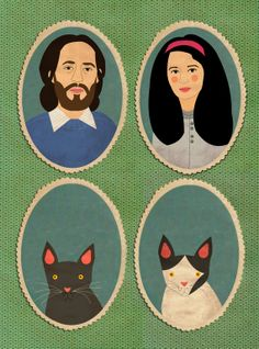 Celebrate your fur-babies with a family portrait. #EtsyCustom