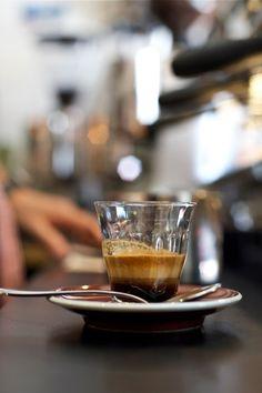 The perfect espresso - a perfect crema.