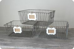 The House of Smiths - cute wire baskets.  from amazon