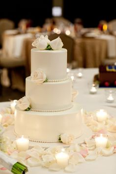 cake??? so simple but elegant! love the pearls