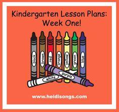 Heidisongs Resource: Kindergarten Lesson Plans, Week One!