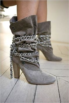 Isabel Marant suede chain boots.