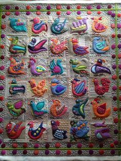 birds quilt by Jessica Jones