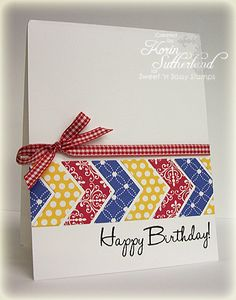 Chevron Birthday WT436 by sweetnsassystamps - Cards and Paper Crafts at Splitcoaststampers