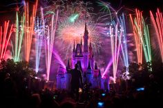 New Year's firework at Disney world Florida, and I was there for New Year's  Eve.