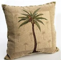 palm tree pillows on sale