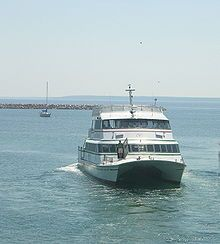 Ferry that you ride on, over to Mackinaw Island, MI. #puremichigan
