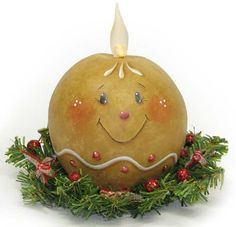 Gingerbread Ball Candle