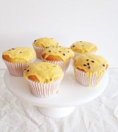 Cupcakes with passionfruit icing