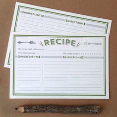 free recipe cards