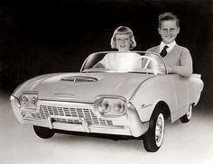 ham, vintag car, toy, pedal cars, subcompact, 1961 thunderbird, peddl car, thunderbird junior, thunderbirds