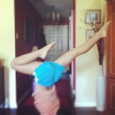 Gymnastics at home!! Hahaha :)